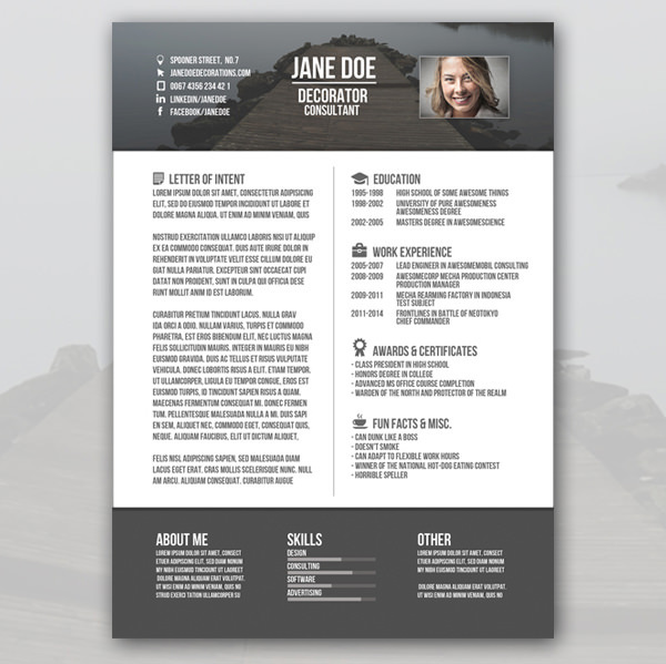 37+ Creative Resume Template Free Download