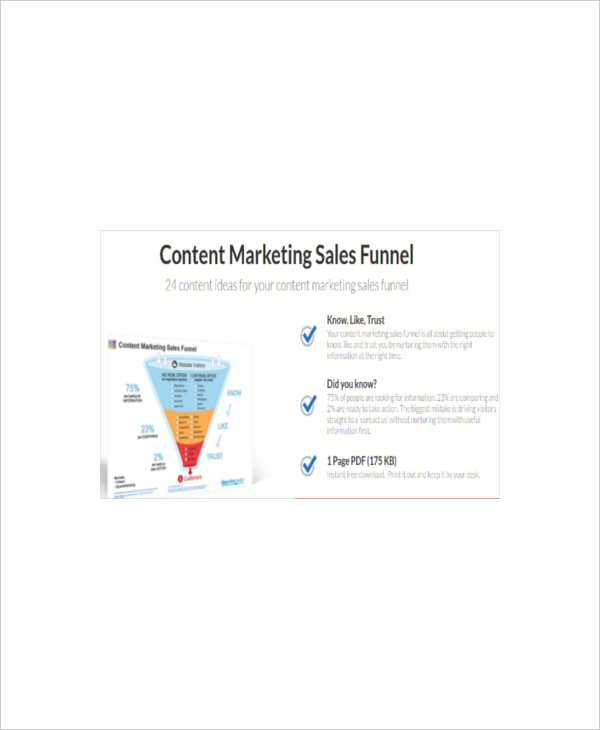 Content Marketing Sales Funnel Template