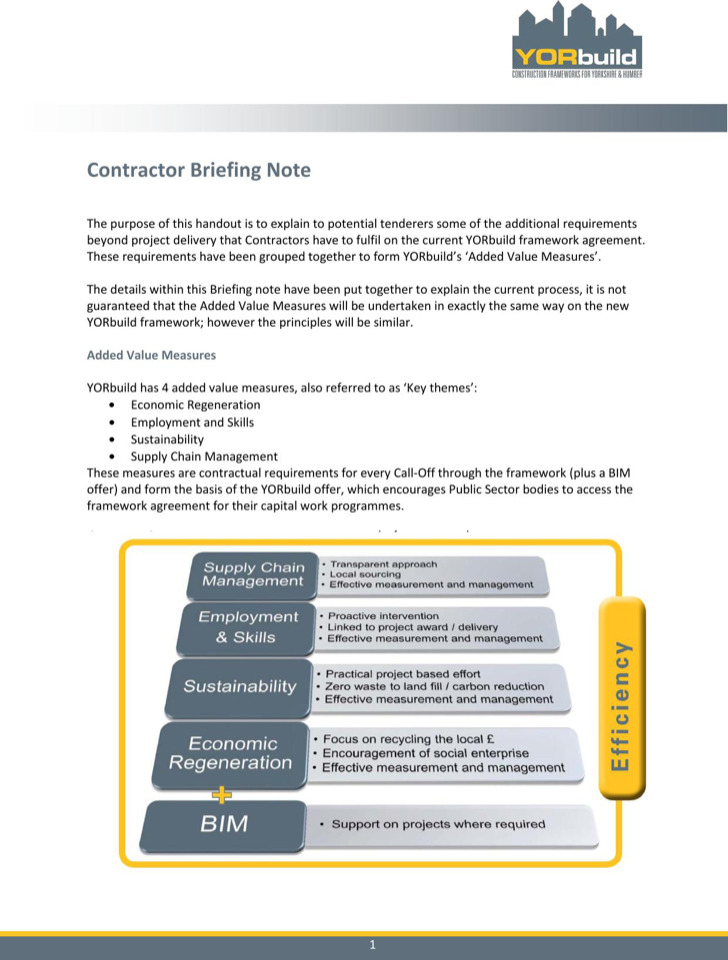 Contractor Briefing Note Template