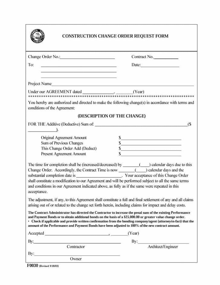 Contractor Work Order Form Download