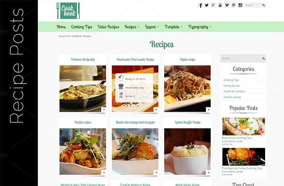 Cookbook Template for Pages Download