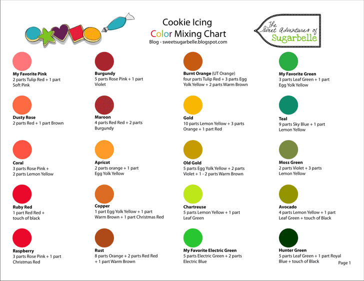 3+ Food Coloring Chart Free Download