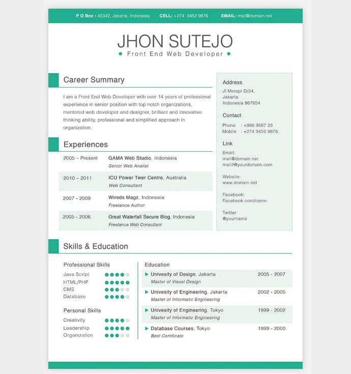 Cool Basic Resume Template