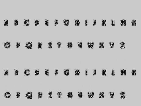 Cool Glitter Font Characters