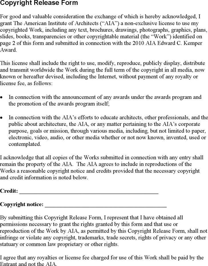 Copyright Release Form 1