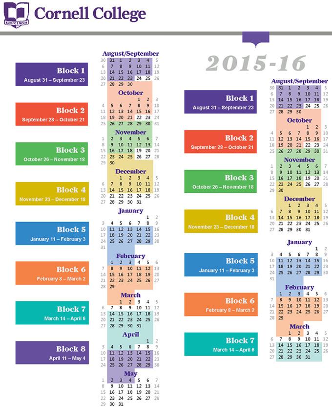 Cornell Academic Calendar Template