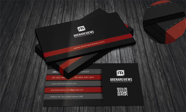 Corporate Black Business Card Template