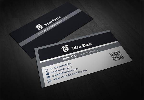 Corporate Business Card in Black