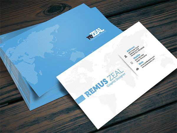 Corporate Business Card Photoshop PSD