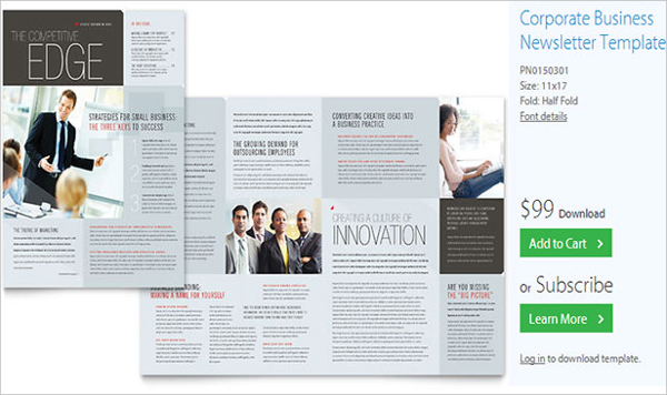 Corporate Business Newsletter Template
