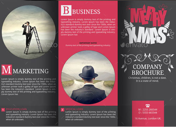 Corporate Christmas Brochure Design Example Indesign