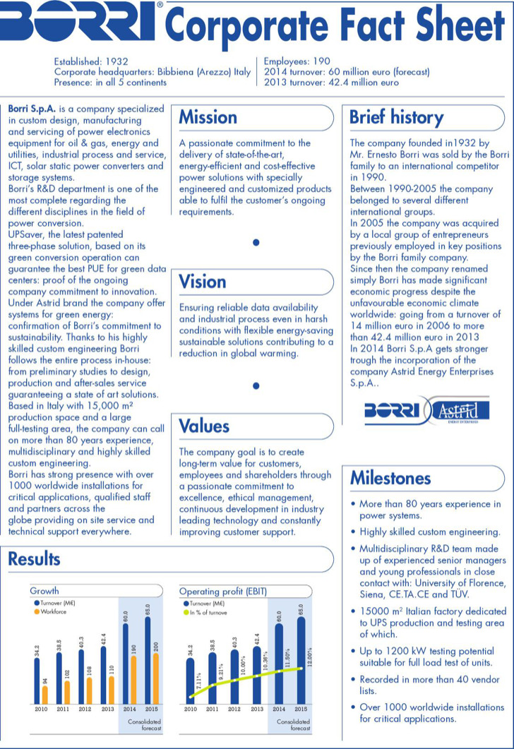 Corporate Fact Sheet Free Pdf Template Download