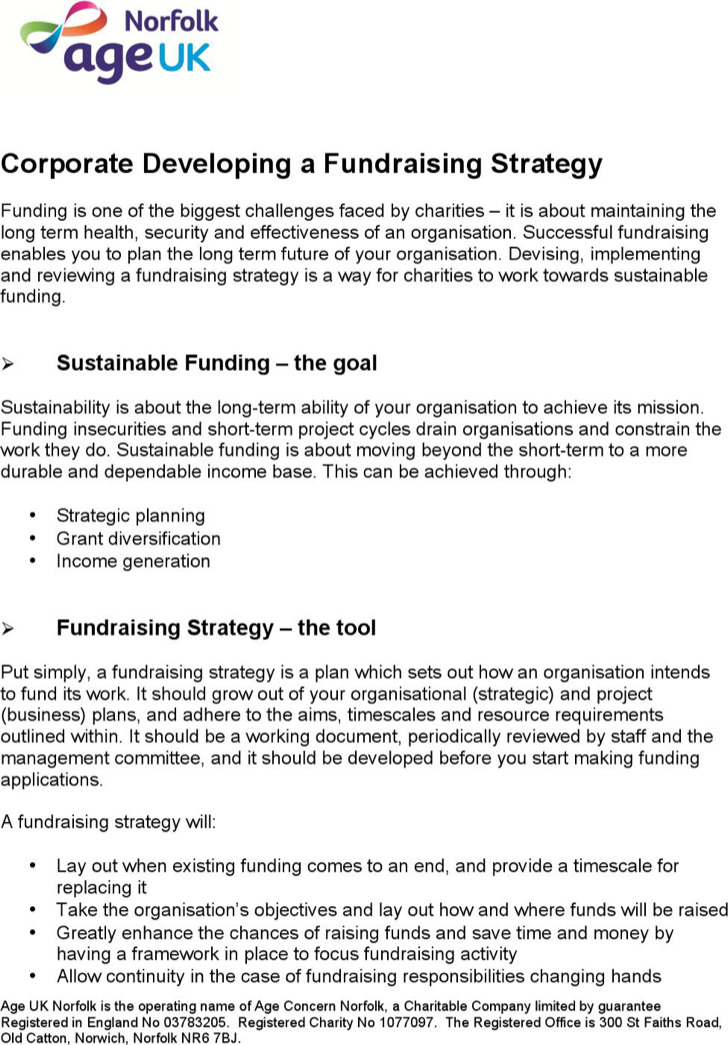 Corporate Fundraising Strategy Template