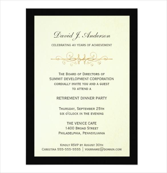 Corporate Retirement Party Invitations
