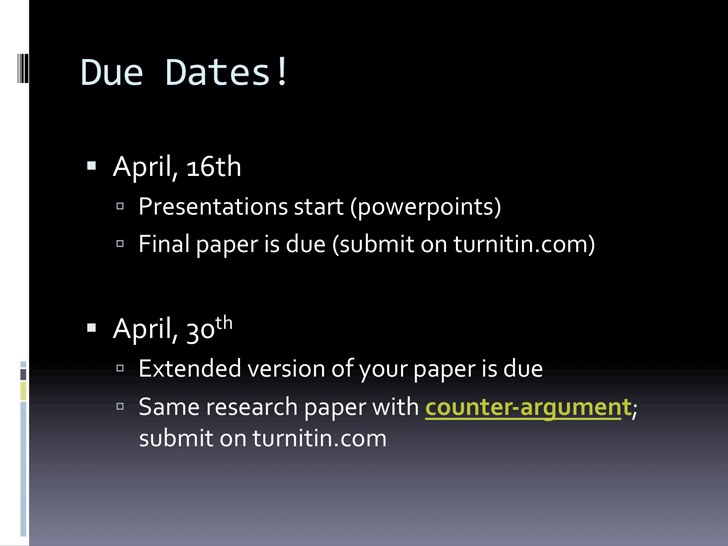 Counter Argument Example 1