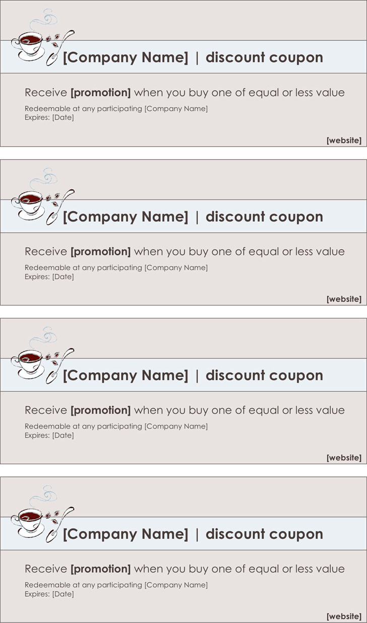 3  coupon template free download