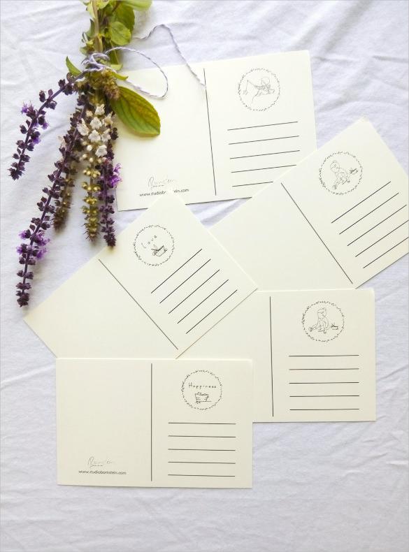 Cream Blank Postcards