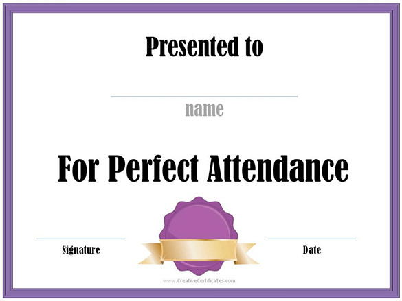 Create Course Attendance Certificate Template Free Online