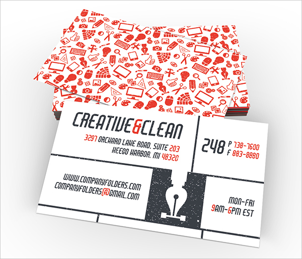 Creative & Clean Folder and Business Card Design