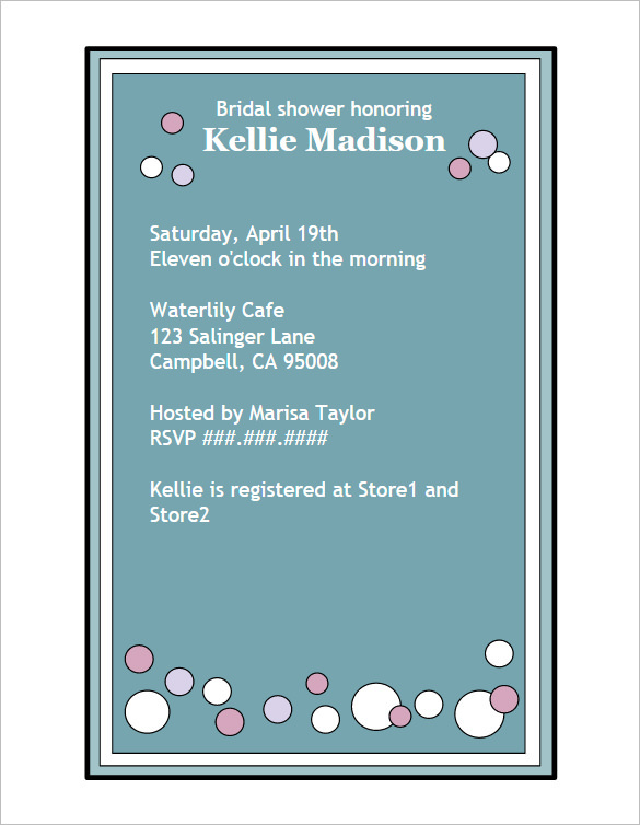 Creative Bridal Shower Invitation Wording