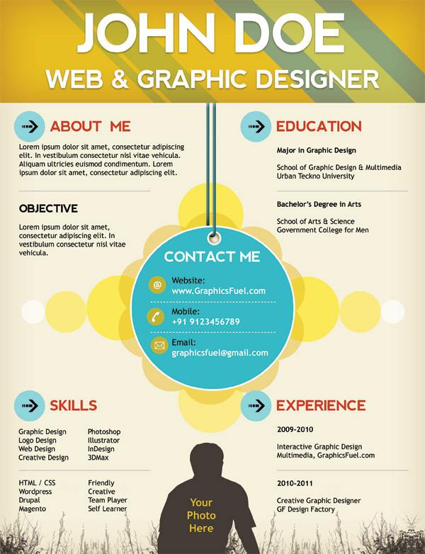 Creative Resume / CV PSD Template