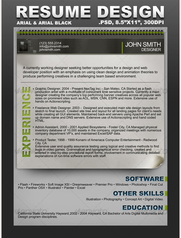 Creative Resume Template 1