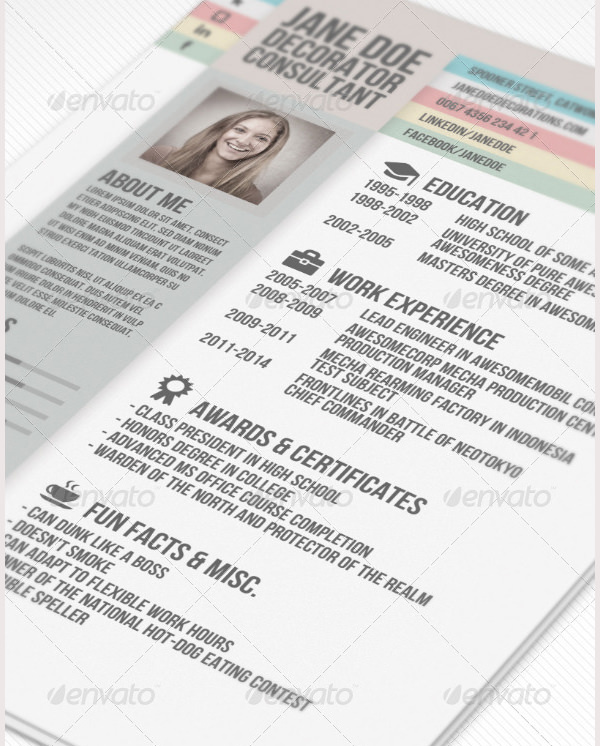 Creative Resume Template for Consultant