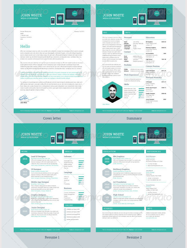 Creative Resume Template for Designer