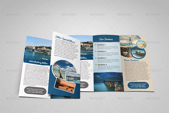 Creative Travel Holiday Trifold Brochure Template