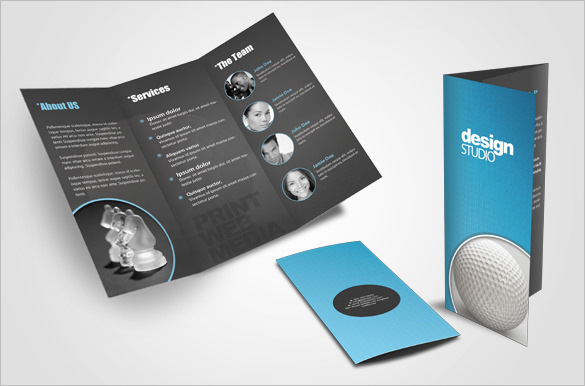Creative Tri-fold Brochure Design Layout for Agency