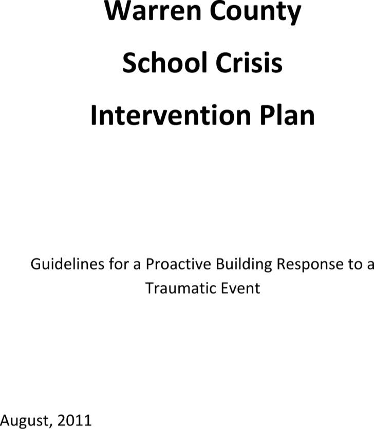 Crisis Intervention Plan Template