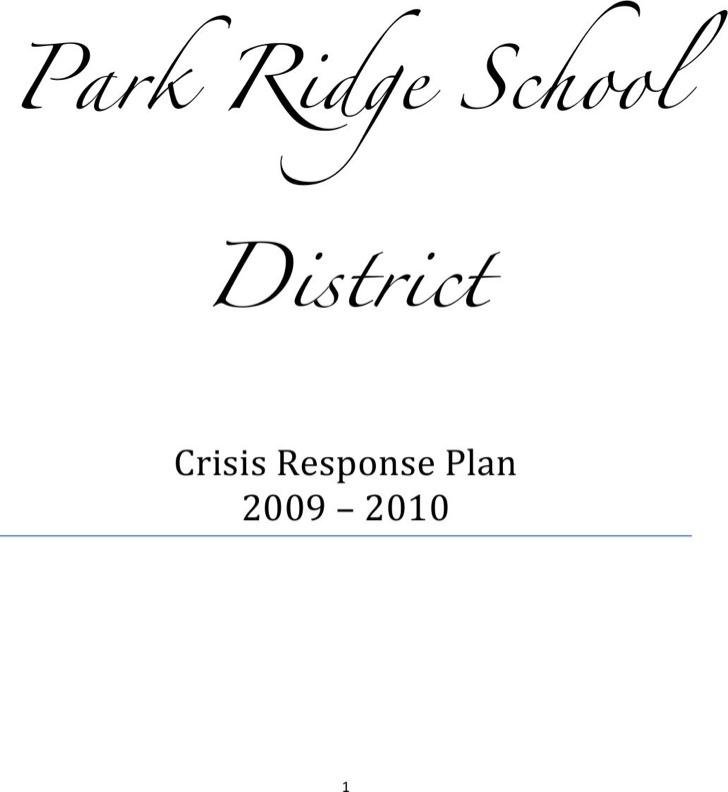 Crisis Response Plan Template