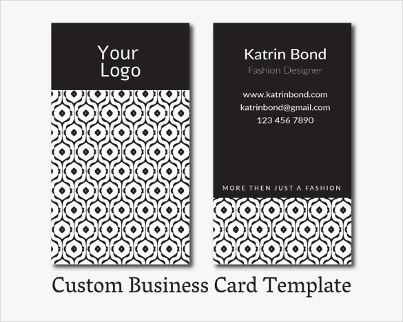 Custom Business Card Template Instant Download