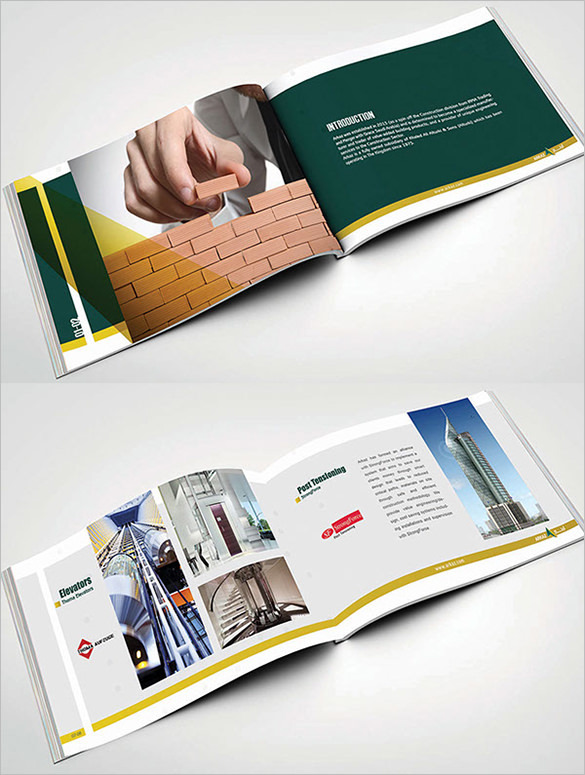 Cute Brochure Template For Construction Company