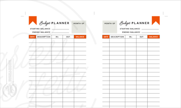 Daily Minimal Budget Planner