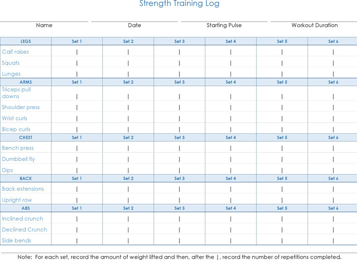Daily Strength Training Log