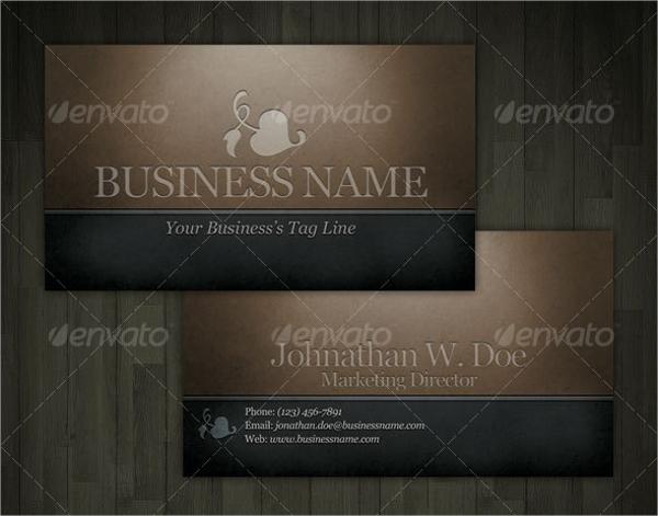 Dark Engraved Business Card Template