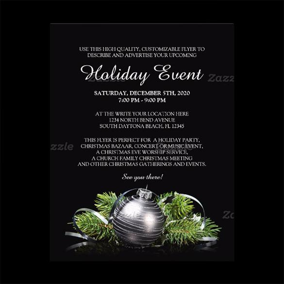 Dark Holiday Event Party Flyer Template