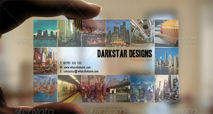 Darkstar Design Transparent Picture Business Card