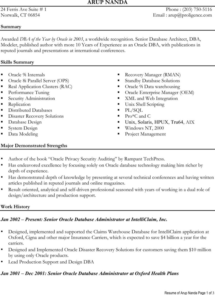 Data Architect Resume