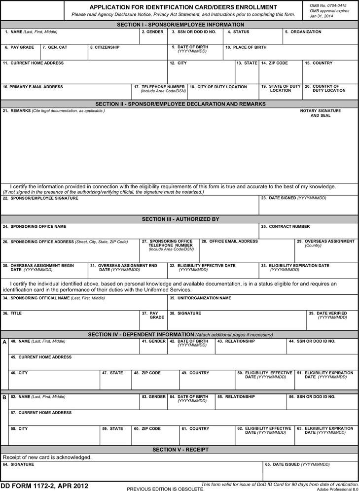 Dd Form 1172-2