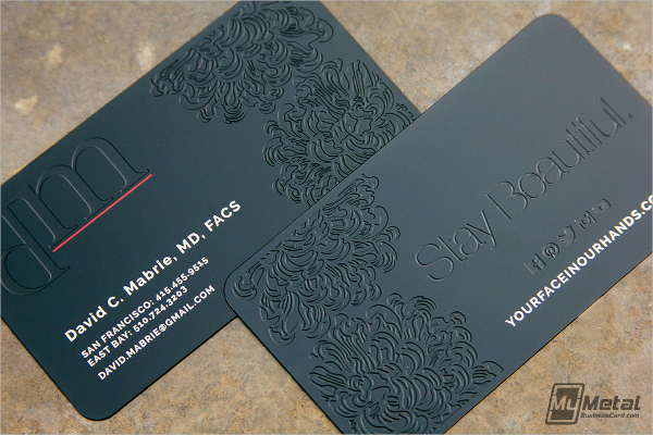 Debossed Metal Business Card Template