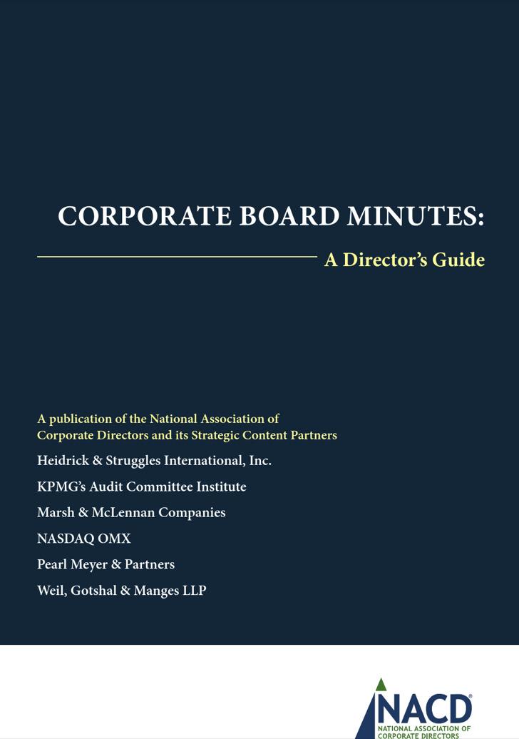 Decision Corporate Minutes
