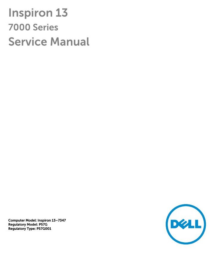 Dell Service Manual Sample