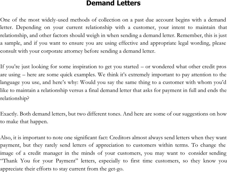 Demand Letter Example