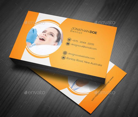 Dental Business Card PSD