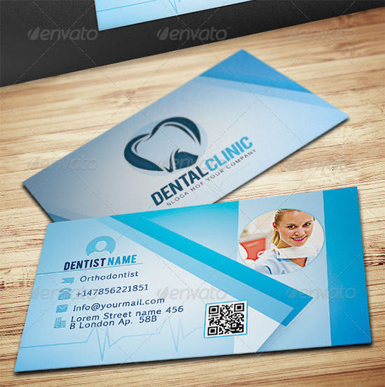 Dental Clinic Business Card for Dentist