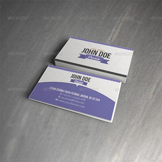 Dentist Retro Business Card