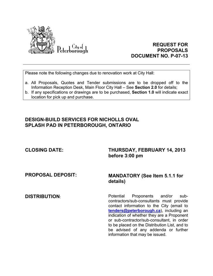 Design Build Construction Proposal PDF Download