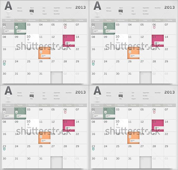Design Event Calendar Template